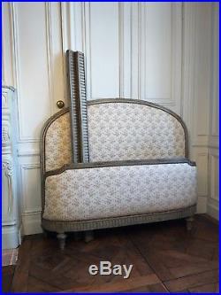 Lit à deux place de style Louis XVI XIXème siècle château Bed castle 19th