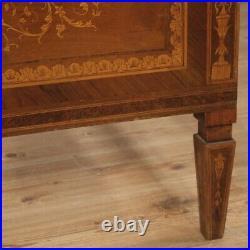 Lit simple meuble en bois incrusté style ancien Louis XVI chambre 900