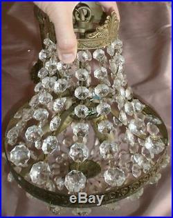 Lustre Montgolfière style Louis XVI 224 Pampilles verre Décor de Princesse
