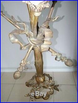 Lustre bronze style louis XVI