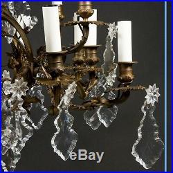 Lustre cage style louis XVI à pampilles, XIXe