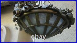 Lustre en bois doré corbeille XIXème style Louis XVI A Restaurer éclairage lamp