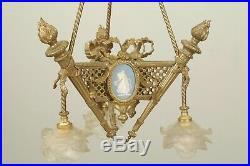 Lustre style Louis XVI bronze doré Wedgwood Napoléon III
