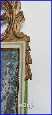 MIROIR Bois Dore XVIIIe 18e Polychrome Style LOUIS XVI Golden Wood Mirror Art