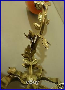 @ Magnifique Applique En Bronze Style Louis XVI Avec Tulipe Pate De Verre Signee
