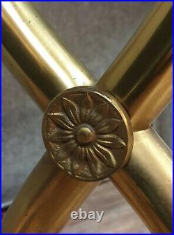 Maison Jansen Luxueuse Console style empire en acajou et bronze doré
