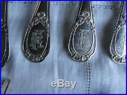 Ménagère 6 couvert argent massif poinçon minerve style LOUIS XVI 18 pcs 1002.7kg