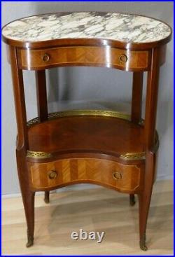 Mercier Frères, Table De Salon Rognon De Style Transition Louis XV Louis XVI, Dé