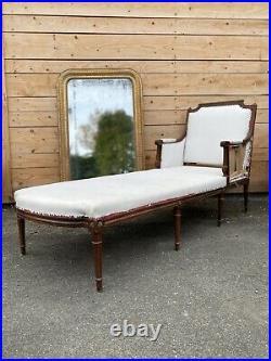 Méridienne Style Louis XVI Napoléon III Canapé Ancien Chaise Longue Duchesse