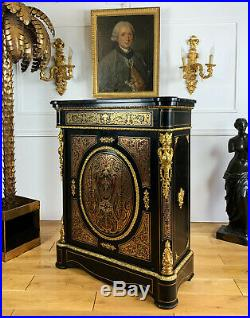 Meuble D Appui En Marquetrie Boulle Style Louis XVI Epoque Napoleon III