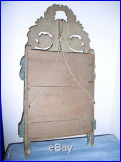 Miroir Ancien Style Louis XVI Epoque Xviiieme Bois Dore Double Coeur