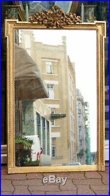 Miroir De Cheminée En Bois Doré De Style Louis XVI époque Napoléon III