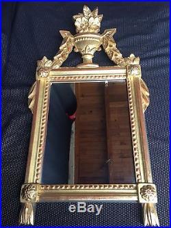 Miroir En Bois Doré Style Louis XVI Epoque Xxeme