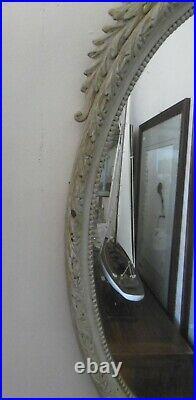 Miroir Ovale Ancien Style Louis XVI Avec Petit Noeud