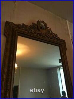 Miroir Style Louis XVI Napoleon 3 Bois Dore