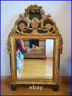 Miroir ancien Style Louis XVI, XVIIIème siècle en bois doré