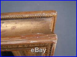 Miroir bois sculpté doré style Louis XVI d'époque 19ème