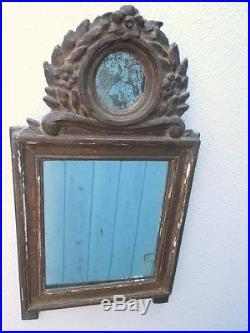 Miroir bois sculpté style Louis XVI d'époque 19ème