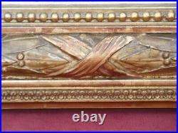 Miroir doré à la feuille d'or de style Louis XVI d'époque Napoléon III vers 1875