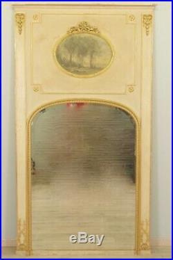 Miroir trumeau style Louis XVI bois doré Napoléon III