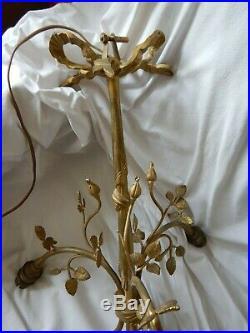 Monture / ancien lustre bronze 1900 de style Louis XVI