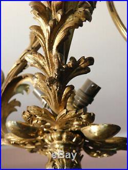 Monture de lustre en bronze doré style Louis XVI 6 feux