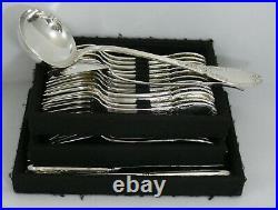 Orbrille belle ménagère style Louis XVI, 38 pièces, avec couteaux, métal argenté