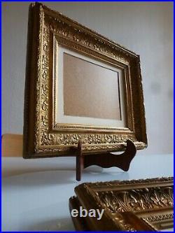 PAIRE DE CADRE XIXème EN BOIS STUQUE DORE STYLE LOUIS XVI ANTIQUE 19th FRAMES