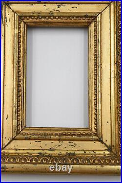 PETIT CADRE bois sculpté / stuck et doré époque 19 EME STYLE LOUIS XVI