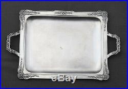 PLATEAU EN ARGENT MASSIF MINERVE STYLE LOUIS XVI (silver tea tray)