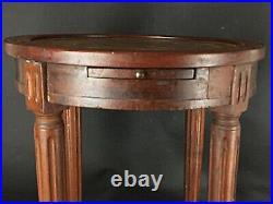 PROJET RESTAURATION Table guéridon bouillotte ancienne XIXe de style Louis XVI