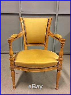 Pair of cabriolet armchairs beech style Louis XVI-Directoire