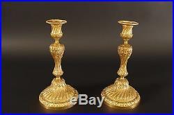 Paire De Flambeaux Style Louis XVI bronze doré Napoléon III