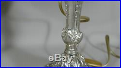 Paire De Lampes De Style Louis XVI En Métal Argenté, époque 1900