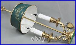 Paire Lampe Bouillotte Bronze doré Style Louis XVI French Antique Lamp
