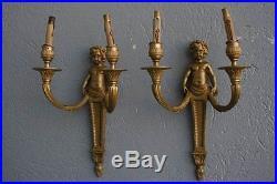 Paire d'applique bronze doré style Louis XVI