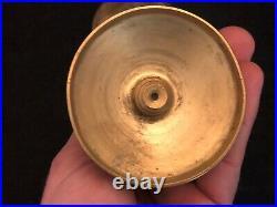 Paire de Bougeoir de Toilette Style Louis XVI Bronze Doré XIX ème Petit Format