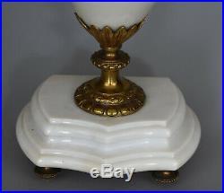 Paire de Cassolettes Marbre blanc et bronze Style Louis XVI France, XIXe