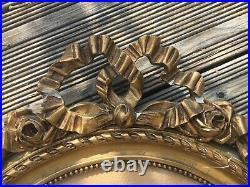 Paire de cadre style Louis XVI à rubans encadrement miroir glace