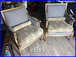 Paire de fauteuil marquises style Louis XVI-Mercier Frères