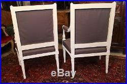 Paire de fauteuils fin 19e début 20e de style Louis 16