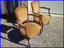 Paire de fauteuils style Louis XVI