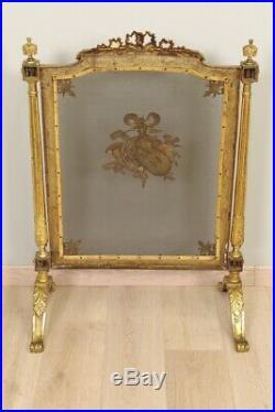 Pare-feu style Louis XVI bronze doré Napoléon III