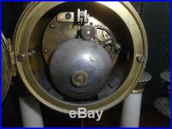 Pendule Horloge Style Louis XVI En Marbre Et Bronze + 2 Chandeliers N° 13