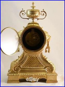Pendule Style Louis XVI En Bronze Doré XIXe clock uhr reloj