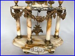Pendule Style Louis XVI Mouvement Japy Freres Cassolettes En Bronze 19e C2397