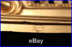 Pendule de cartonnier style Louis XVI bronze doré XIX siècle signée A. Adan