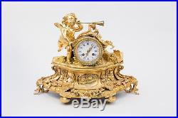 Pendule de style Louis XVI en bronze doré, fin XIXème siècle