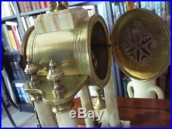 Pendule portique 4 colonnes Marbre et bronze Style Louis XVI