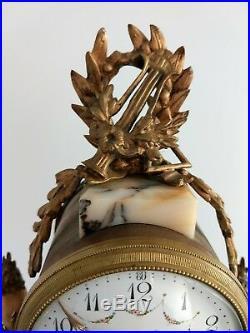 Pendule portique marbre style louis XVI